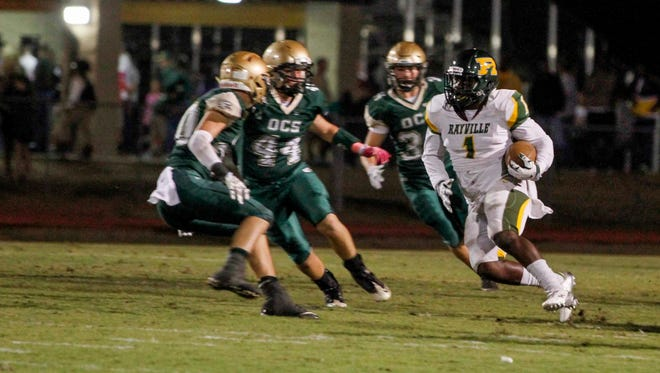 The Rayville Hornets football team lost Friday's away game against OCS by a score of 42-24.