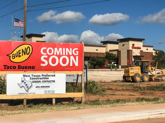 Taco Bueno is working on opening at 5590 Sherwood Way.
