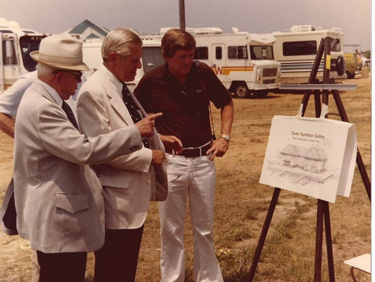 From left, Crisfield native and former Maryland Gov.