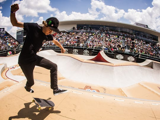 Ventura resident Curren Caples has won two gold medals and two silver medals during his X Games career. The skateboarder will go after more hardware when he competes in the X Games at Minneapolis on Sunday.