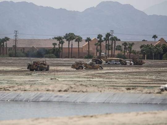 Construction of the Del Webb in Rancho Mirage with the Westin Mission Hills in the background on Thursday, September 7, 2017.