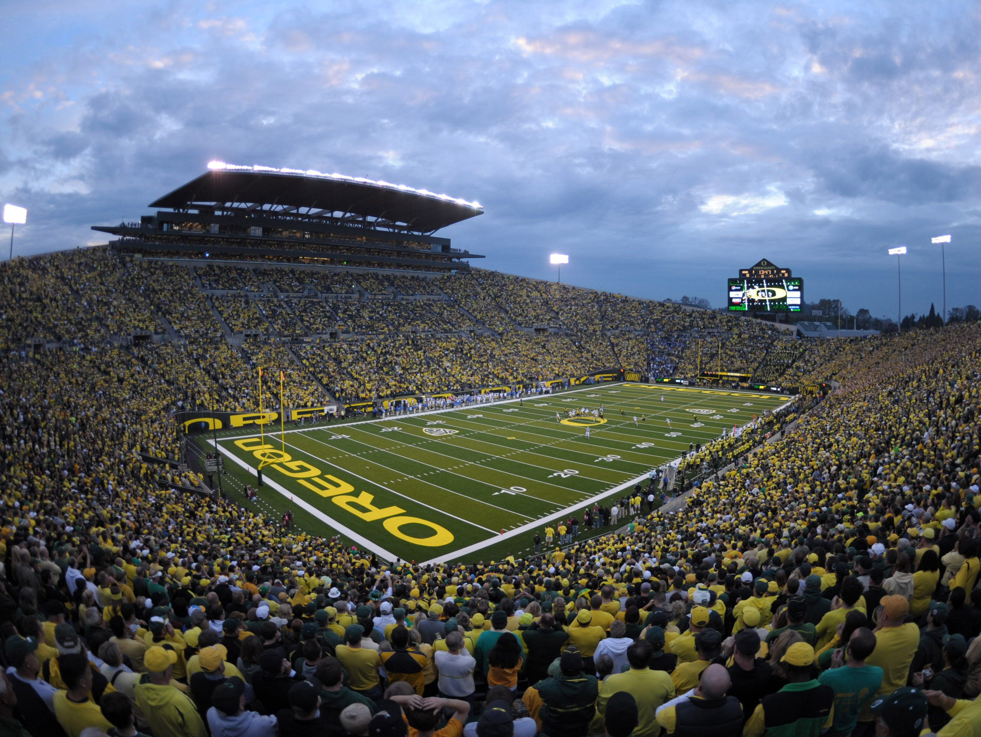 Autzen Stadium, Oregon: The unique layout puts the stands right on top of the sunken field, which traps the uproar inside the stadium, making life difficult for the visitors