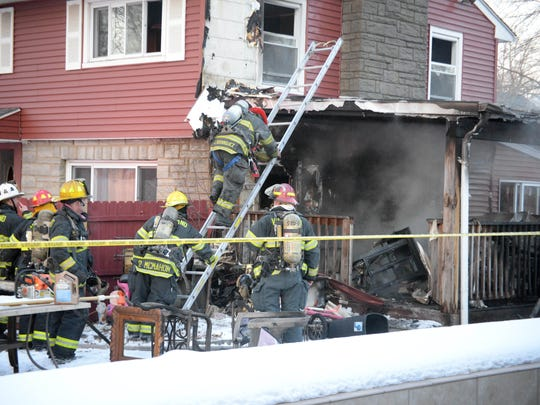 Vineland firefighters responded to a house fire in the 300 block of Doren Terrace on Friday.