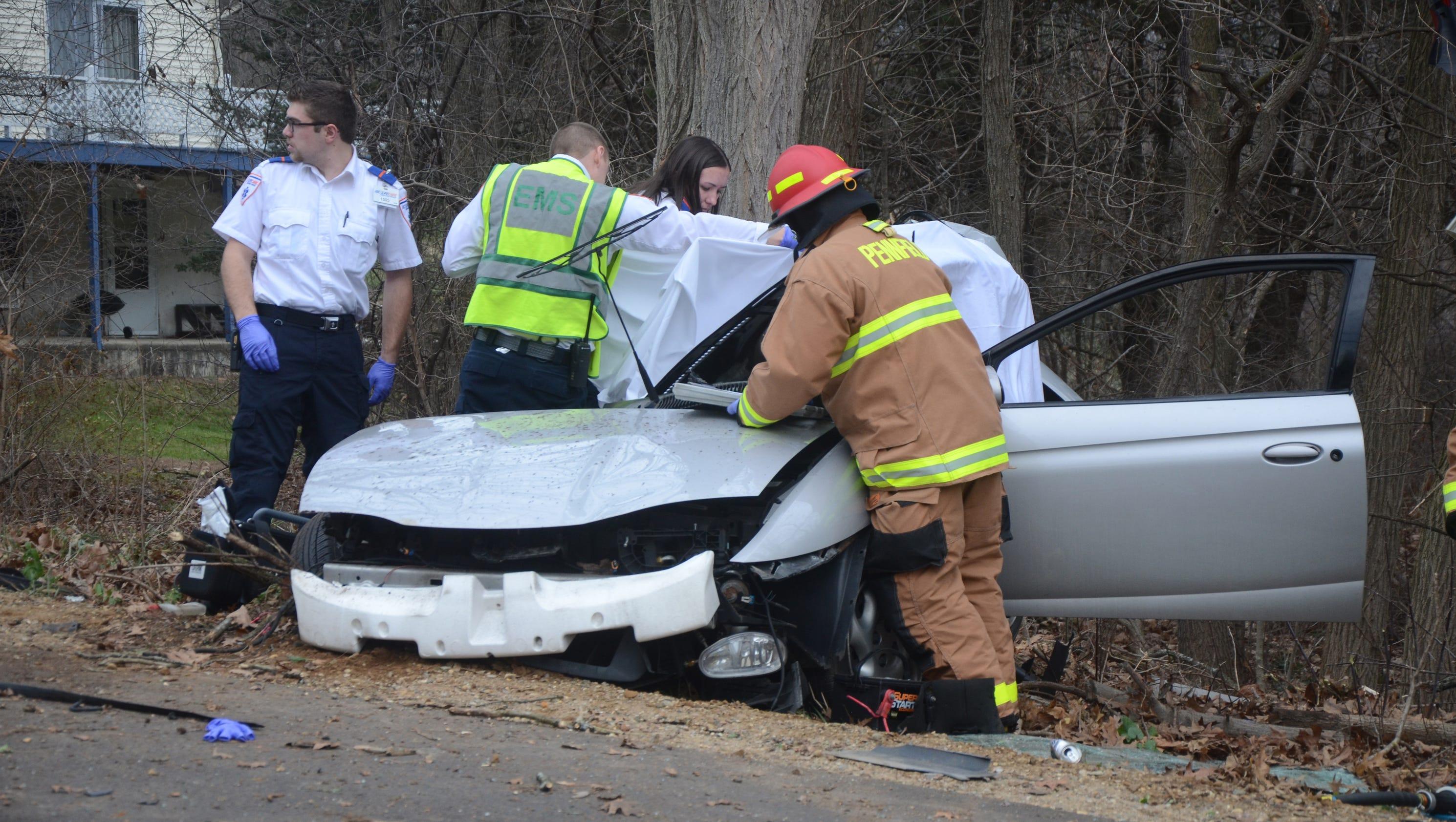 Car Crashes Into A School