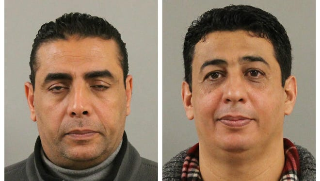 Two Uber drivers, Hassan Ibrahim (left) and Salim Salem (right), have been charged in connection with sexual assaults in East Lansing in January and February.