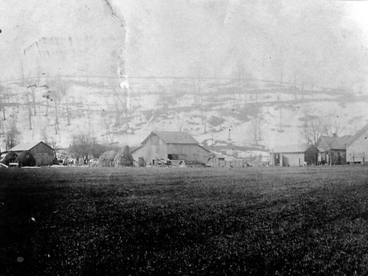 An old photo of the farm that the Schumaker's estimate