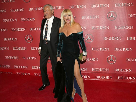 Suzanne Somers on the red carpet at the Palm Springs