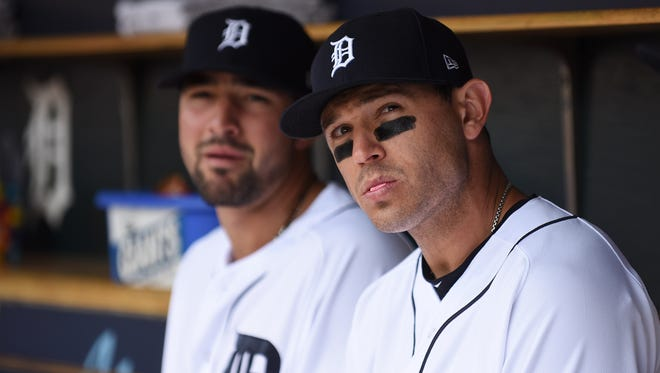 Tigers second baseman Ian Kinsler, right, said there's no secret how to handle the team's upcoming 11 games in a 10-day span.