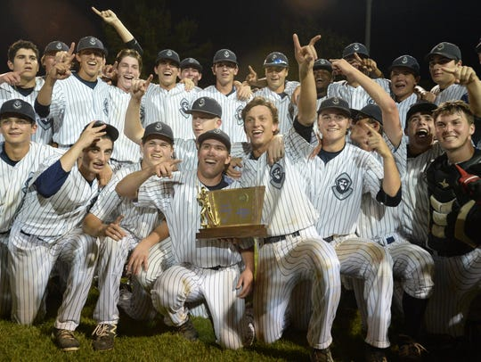 St. Augustine celebrates after defeating Delbarton
