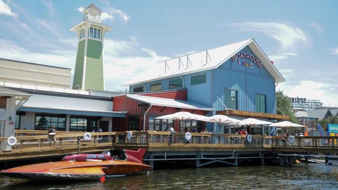 Shown is Disney Springs' Boathouse restaurant.