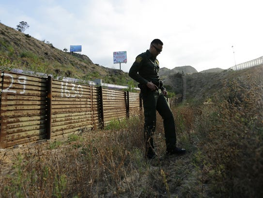 In this June 22, 2016 photo, a Border Patrol agent