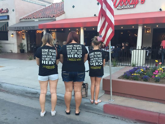Veterans honored across coachella valley for T shirt city palm springs