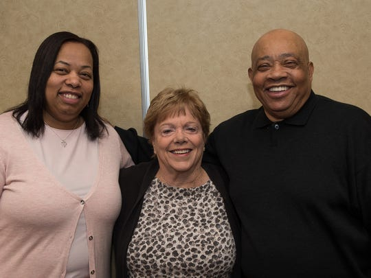 Roz Worsley, left to right, Connie Paul and Willie Worsley