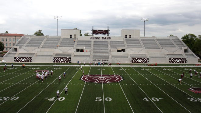 The stands at MSU's Plaster Stadium are now closer to the football action.