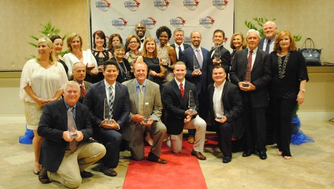 The Central Louisiana Chamber of Commerce Business Award winners.