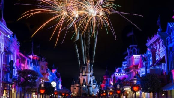 Stream Disney's famous firework display, and use it as the backdrop for your graduation walk.