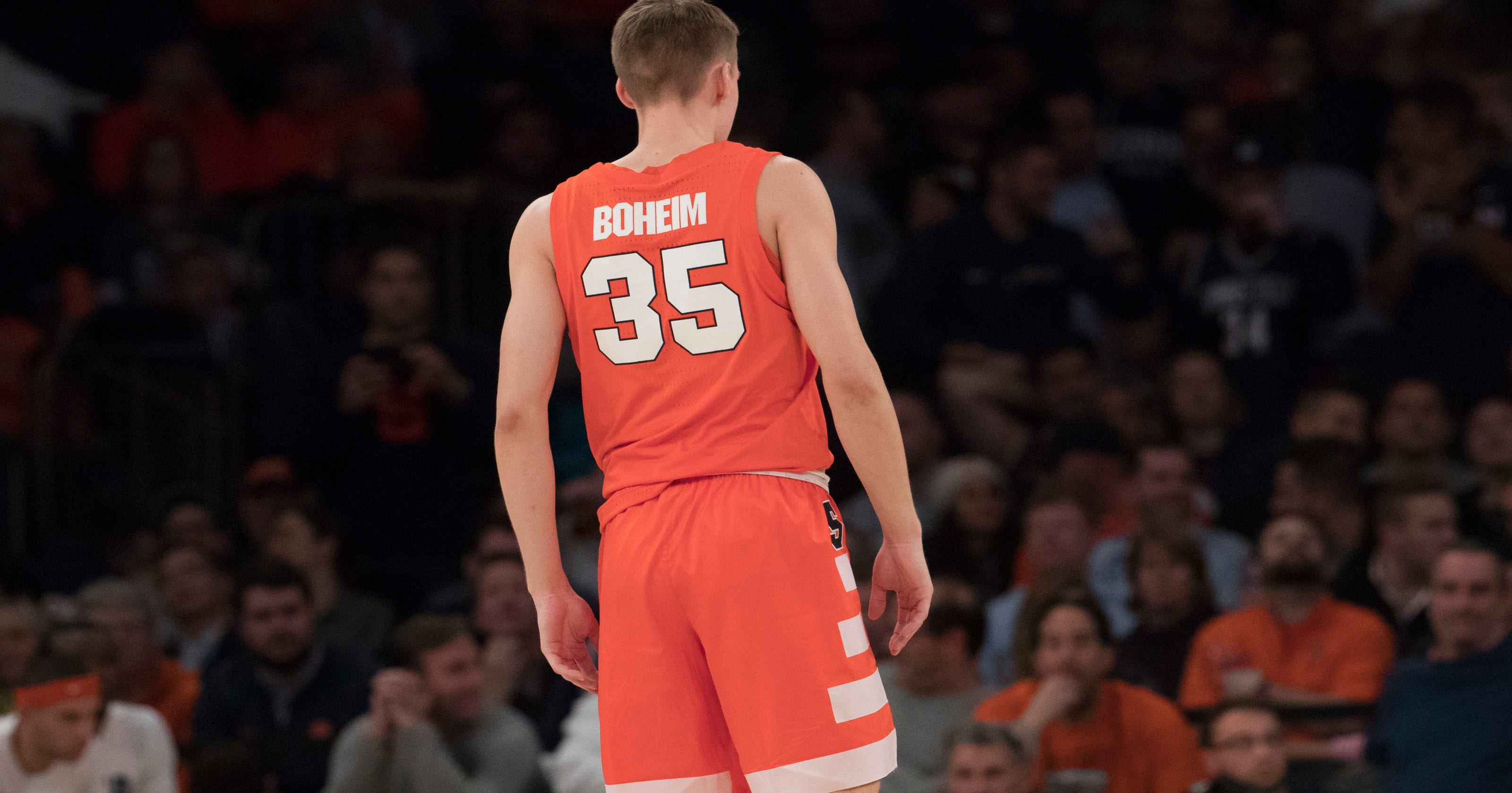release date: f0b9e f8af7 Buddy Boeheim name misspelled on Syracuse jersey