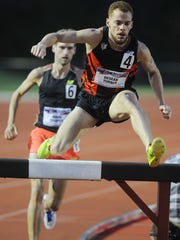 De'Sean Turner had an American best time for the year with a 8:33.79 in the 3000-meter steeplechase. The American Track League debuted at the Indiana University track facility in Bloomington Friday May 2, 2014.