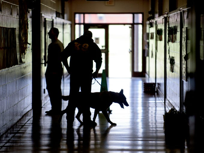 during a patrol and detector dog training conference