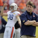 CHRIS O'MEARA/APAfter being ousted from Florida, Will Muschamp, now Auburn's defensive coordinator, is taking things personally. APAuburn defensive coordinator Will Muschamp is seen before the Outback Bowl on Jan. 1 in Tampa, Fla. The former Florida coach has the Tigers in position to make a signing day surge. FILE - Int his Jan. 1, 2015, file photo, Auburn defensive coordinator Will Muschamp watches before the Outback Bowl NCAA college football game in Tampa, Fla. . The former Gators coach, who was fired last season and hired as Auburn's defensive coordinator two weeks after he coached his final game for Florida, has the Tigers in position to make a signing day surge. (AP Photo/Chris O'Meara, File)