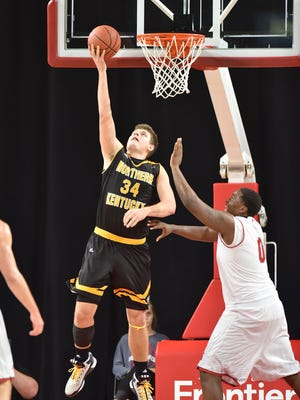 Drew McDonald lays a ball up and in for NKU.