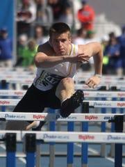 Southeast Polk senior Jace Christensen competes in