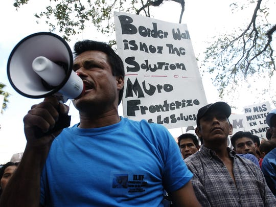 Immigrant workers from around Southwest Florida gather in downtown Fort Myers to protest the passage of HR 4437, The Border Protection, Antiterrorism, and Illegal Immigration Control Act in the U.S. House of Representatives.