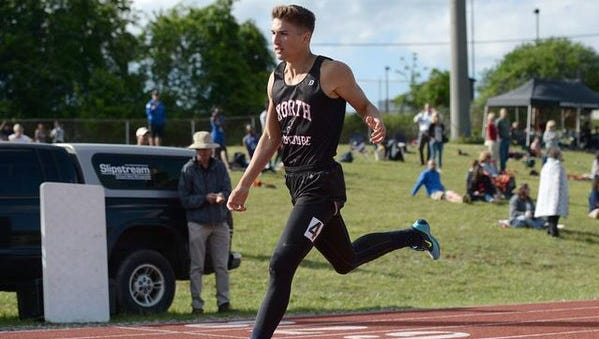 North Buncombe senior Blake Mathews has committed to the East Carolina track and field program.