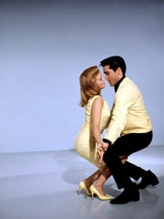 "Elvis Presley and Ann-Margret in a publicity portrait for ""Viva Las Vegas"""