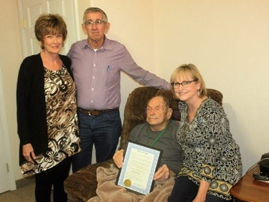 Dale Janway honors World War II vet