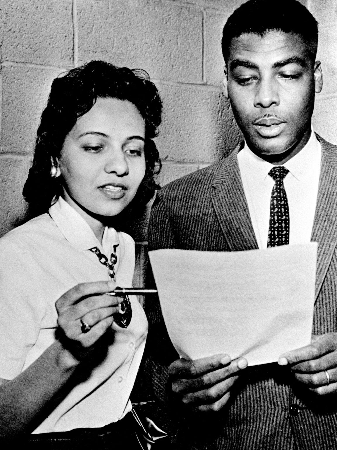 Fisk University student Diane Nash and the Rev. Kelly
