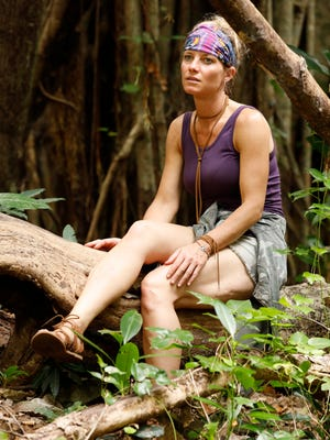 """Angela Perkins in a scene from the upcoming on """"Survivor: Ghost Island"""" season on CBS."""