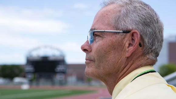Mark Meile poses at Howard Wood Field in Sioux Falls,
