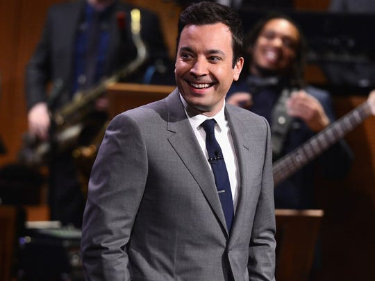 """Jimmy Fallon, host of """"The Tonight Show,"""" usually tapes"""