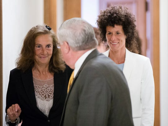 Gianna Constand, left and her daughter Andrea Constand