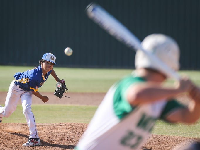 Reagan County's Pablo Hernandez pitches against Wall