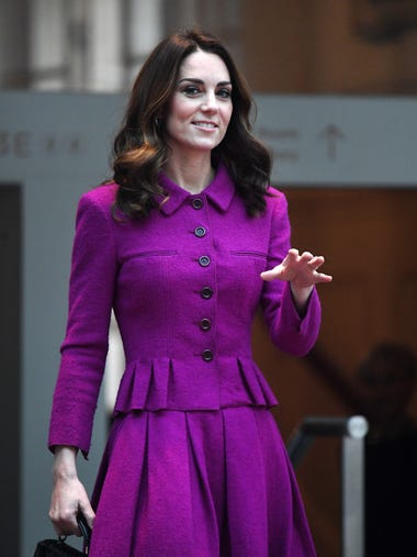 Duchess Kate looked magical in magenta when she visited