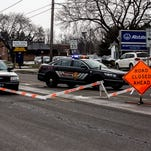 21st Street was closed between Catalina Drive and Meadowbrook Drive Friday afternoon to accommodate the calling hours of Officer Thomas Cottrell Jr.