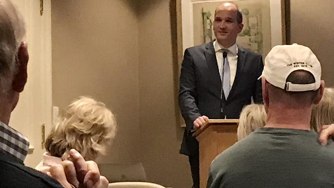 Jan Peelen, attaché for the Ministry of Infrastructure and Water Management at the Royal Netherlands Embassy, gave a presentation about rising sea levels at the Palm Beach Preservation Foundation on March 10.
