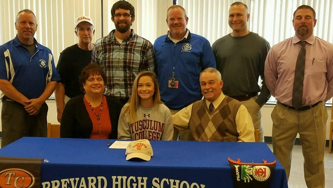 Brevard senior Meredith Barton has signed to play college golf for Tusculum (Tenn.).
