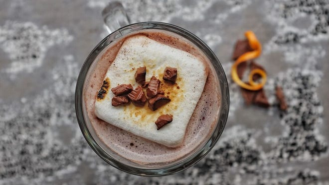 In Chicago, warm up in more than one way at Bread & Wine with Sarah's Red Wine Hot Chocolate, created by beverage director and general manager Sarah Plimmer. With ingredients like Pinot Noir, melted chocolate chips and fluffy marshmallows, what's not to love?