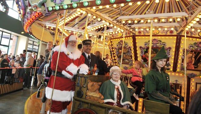 Santa arrives at Salem's Riverfront Carousel on Nov. 27.