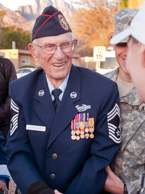Bataan survivor Chief Master Sgt. Harold Bergbower