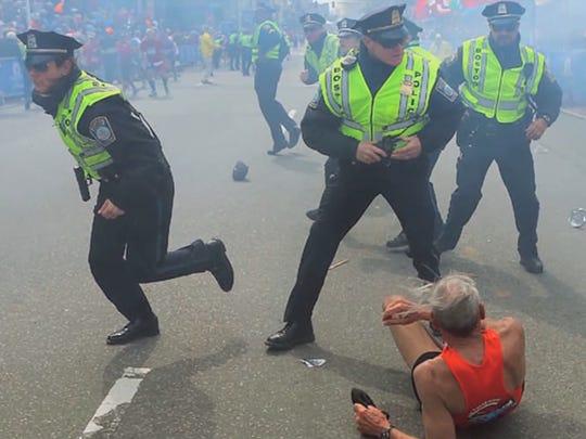 Three people were killed when terrorists detonated two bombs near the finish of the 2013 Boston Marathon.   (Photo: KING)