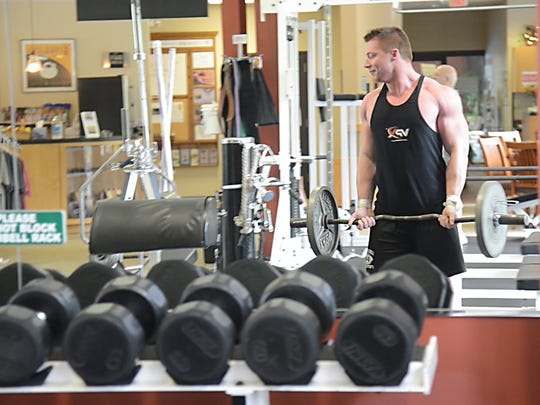 Travis Frizsell spends hours and hours in the gym each