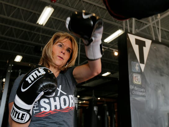 Ann Marie Earle, owner of Title Boxing Club in Holmdel,