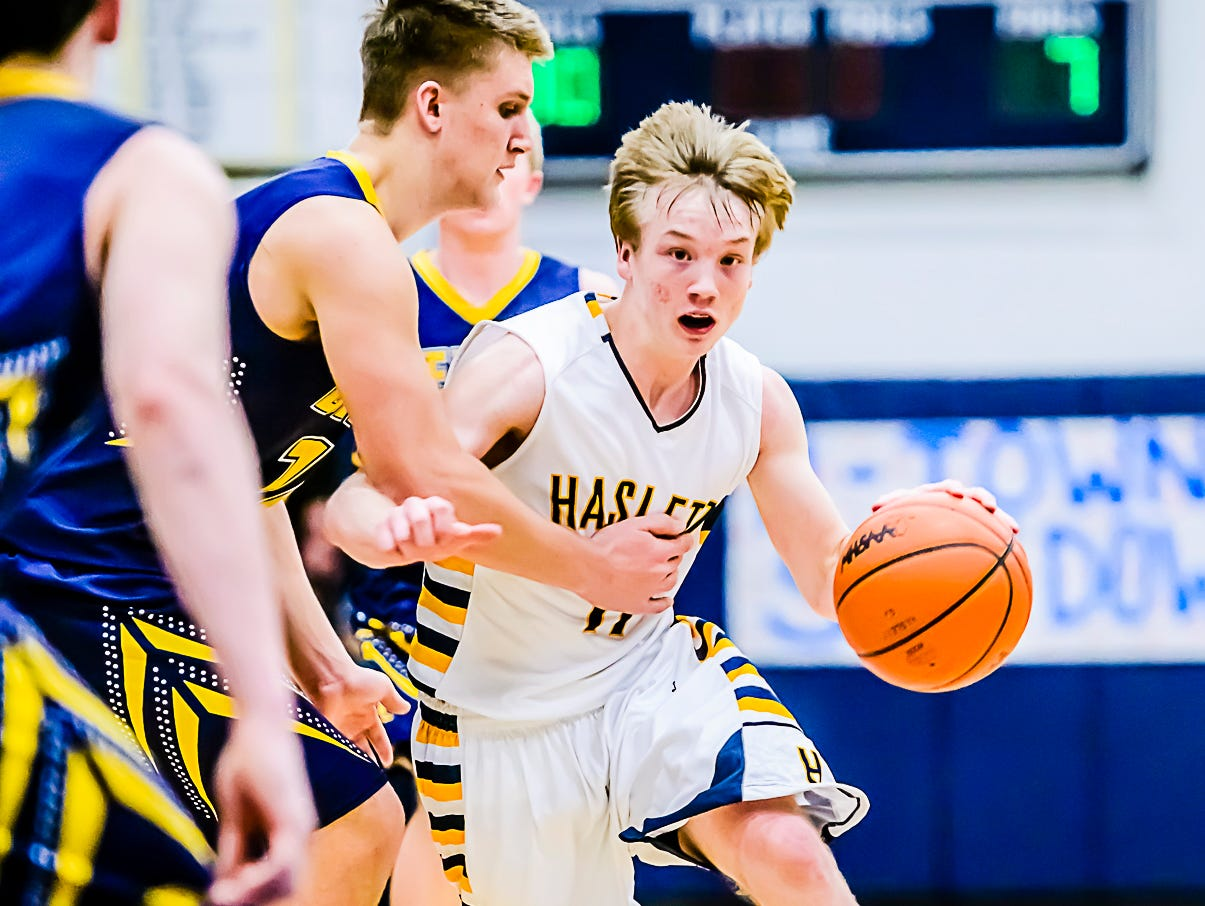 Brandon Allen has been the leader of Haslett's high-powered offense that is averaging 77.8 points through six games.
