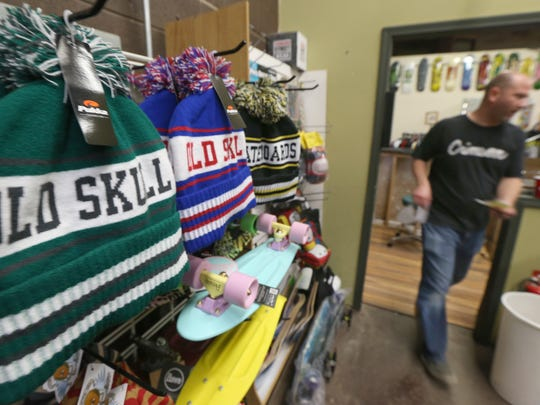All things skateboards and skateboarding culture including hats and apparel are available at Old Skull Skateboards at their new location.