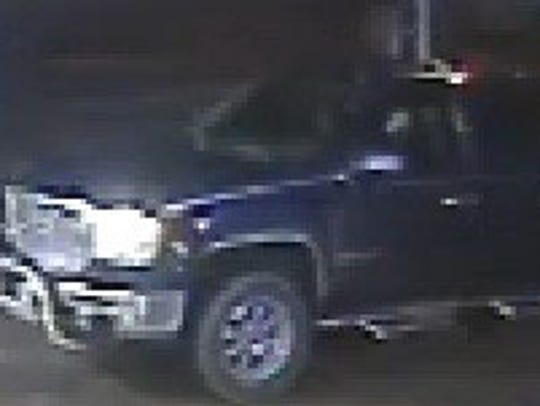 Surveillance camera shows this pick-up truck at the