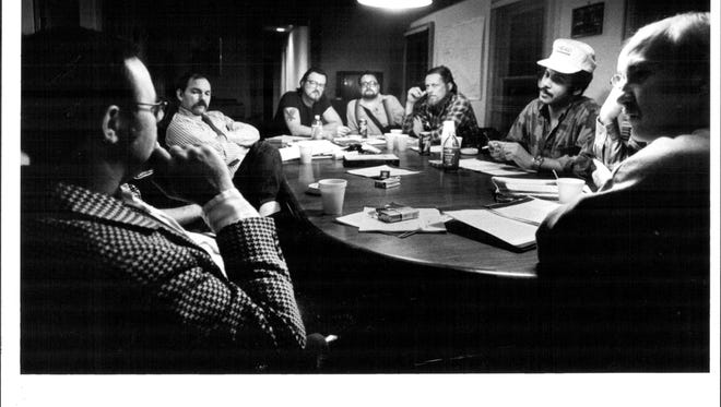 File photo of Vietnam Veterans counseling session at the Veterans Outreach Center on South Ave.
